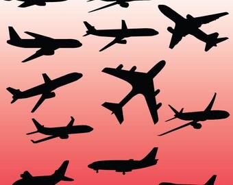 Flugzeug Clipart Digital Airplane Flugzeug ClipArt fliegen
