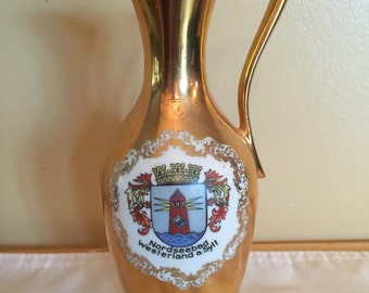 Porcelain Pitcher Gold Plated Bavarian