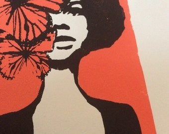 BUTTERFLIES silkscreen print in list
