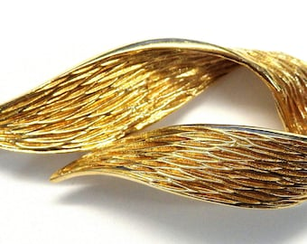 14k Yellow Gold Dankner Ribbon Brooch # 252233007929