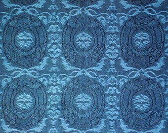 Jacquard No.2-Cotton Woven Yarn Dyed-Blue Color-Garment supply-Handcraft material-Multi purpose supply-2Y50Cm.