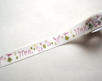 Forest Washi Tape. Red.