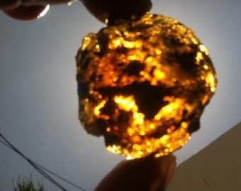Blue amber Piece