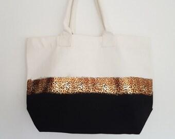 Leopard print Tote bag - padded handles