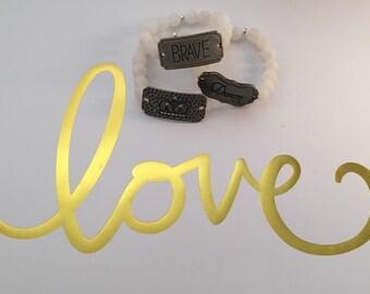 Agate Plate Bracelet Stacks
