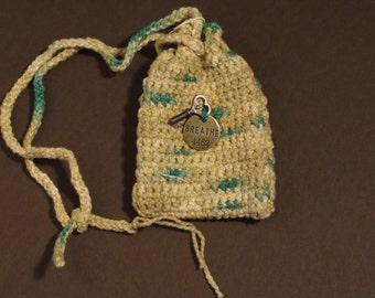 Breathe stone talisman charm whatnot crochet bag pouch