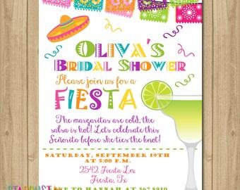 Fiesta Bridal Shower Invitation, Bridal Shower Invitation, Fiesta Bridal Shower