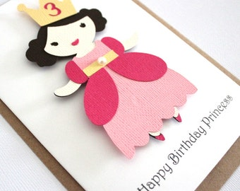 Girl Birthday Card - Princess