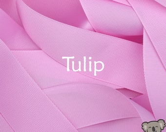 Tulip Grosgrain Ribbon 3 Metre Cut, FREE Shipping, 64 Colours in 7 Widths Available