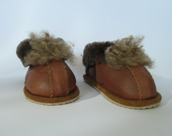 Children slippers, leather slippers