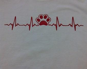 Pet ekg t-shirt