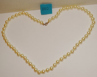 "Vintage Individually Knotted Fresh Water Pearl 22"" Necklace."