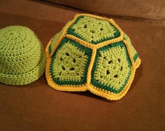 Crochet Turtle Newborn Outfit