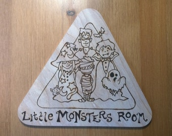 Little Monsters Room Warning Triangle