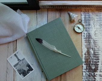 Linen Journal - Sea Glass