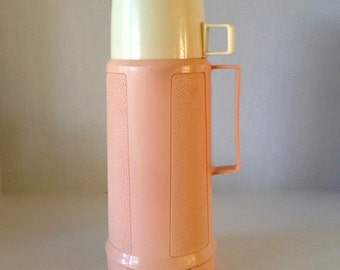Vintage 1970s Pale Pink Thermo- 1970s