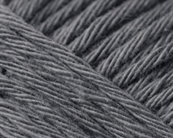 Cotton yarn mouse grey creative cotton aran crochet yarn Rico Design 50g 85m (92 yards) for needle size 4-5 EU (US 6-8) dark gray code 28