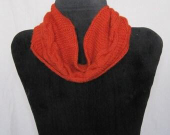 Hand knit Alpaca Wool Cowl Scarf
