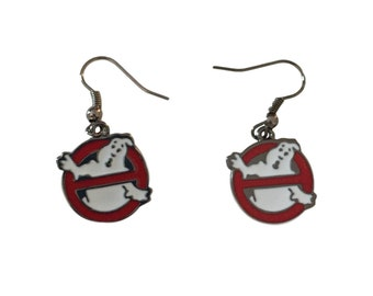 Ghostbusters No Ghost Dangle Fish Hook Earrings