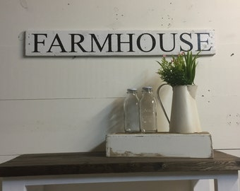FARMHOUSE Wooden Sign, Vintage, Reclaimed