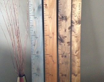 Hand Burned wooden growth charts