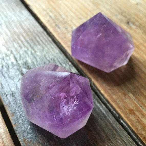 Reiki Love Infused Spiritual Junkies Amethyst Point Healing Crystal + Gemstone (single gemstone)
