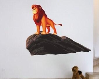 Lion King Nursery Lion King Wall Decal Prime Rock Wall Decal Simba Wall