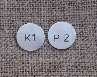 K1 P2 knit one purl two sterling stud earrings