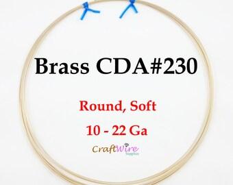 Jeweler's Brass Wire, 1 Lb, 10 12 14 16 18 20 21 22 Gauge Red Brass Wire, Dead Soft, Round, CDA 230