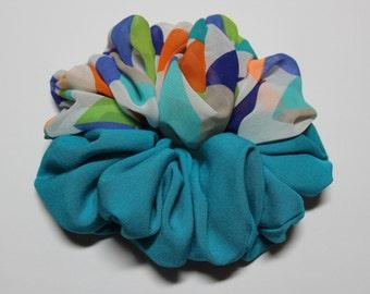 Blue & Colorful Chiffon Combination