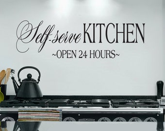 Self Serve Kitchen Vinyl Wall Decal Sticker