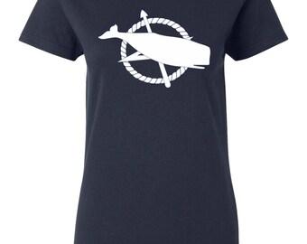 Nantucket T-shirt - Nantucket Town Flag - Nantucket Womens T-shirt