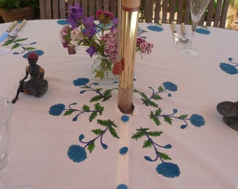 Indian Block Print Tablecloths with a central hole