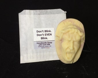 Handmade Soap with Goat Milk - Weeping Angel - Lemongrass - Doctor Who fandom