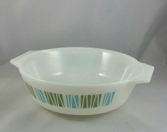 Vintage JAJ Pyrex Matchmaker Casserole Dish, 1 Pint Round Casserole