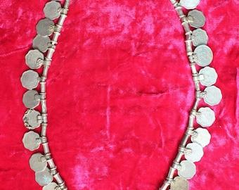 Tribal vintage gypsy belly dance banjara kuchi conins necklace