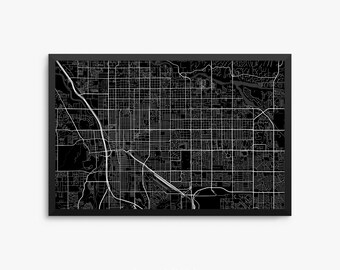 Tucson map print Etsy