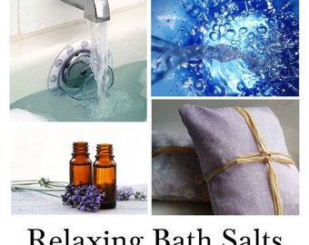 Relaxing Bath Salts, Relaxing Bath, Relaxing Bath Oils, Natural Relaxation for the Bath - - - 16oz