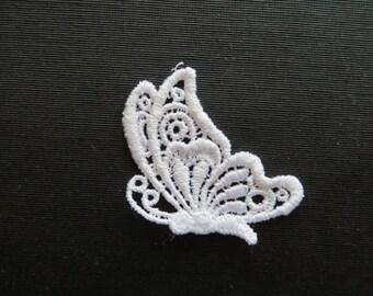 Butterfly Applique Sideview Venise Lace 6015
