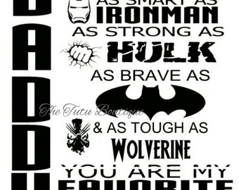Daddy You are Our Favorite Superhero SVG, Father's day, Instant Download