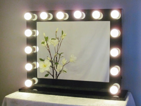 Lighted Vanity Mirror With Outlet : Grand Hollywood Lighted Vanity Mirror w/ LED Bulbs by ImpactVanity