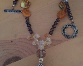 Fanciful fall necklace