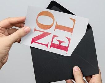 NOEL 5x7 inch Folded Christmas Greeting Card - GC1122
