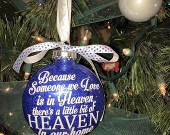 Custom Memorial Christmas Ornament