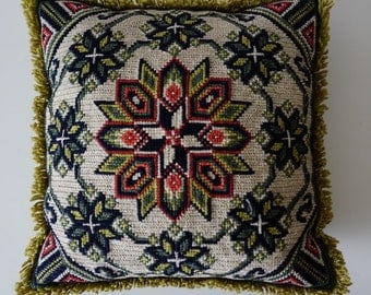 Hand twisted pillow case/Swedish Embroidered Pillow cases Embroidery Cushion Decorative Pillow Handmade Vintage Cottage Decor