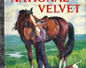 VINTAGE! 1960's Little Golden Book~NATIONAL VELVET  1st Ed.