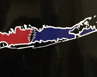 Long Island Grateful Dead Vinyl Sticker
