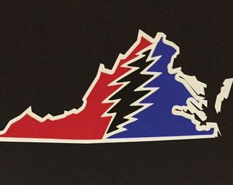 Virginia Grateful Dead Vinyl Sticker