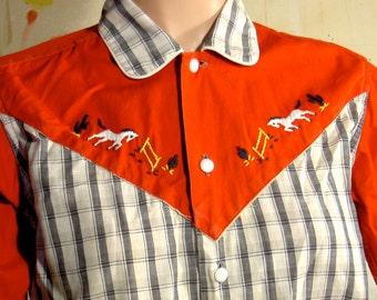 Roy Rogers by Rob Roy cowboy shirt 1950s