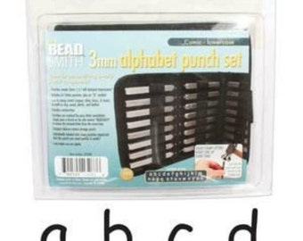 Metal Stamping Kit Comic 3mm Impression Beadsmith Lowercase Metal Stamps Alphabet Letters with Case